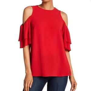 Michael Kors Cold Shoulder Top